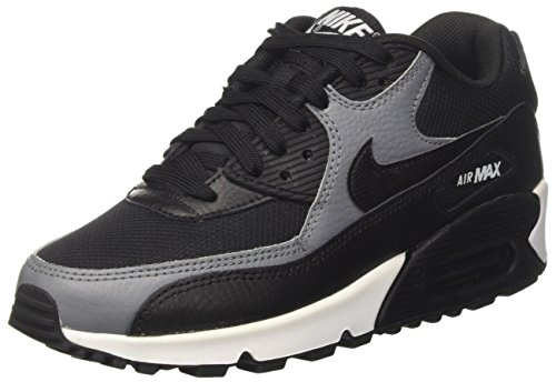 Nike Air Max 90, Baskets Basses Femme, Noir Cool Grey-Black, 40 EU