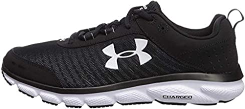Under Armour mens Charged Assert 8 Running Shoe, Black/Black, 7 US