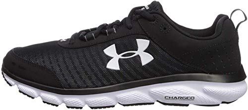Under Armour mens Charged Assert 8 Running Shoe, Black (002 Black, 8.5 US