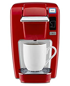 Keurig K15 Coffee Maker Single Serve K-Cup Pod Coffee Brewer 6 to 10 Oz Brew Sizes Chili Red
