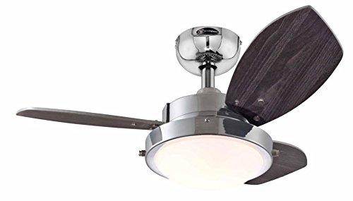 Westinghouse Ceiling Fans Wengue Ventilador de Techo R7s, 80 W, Cromo
