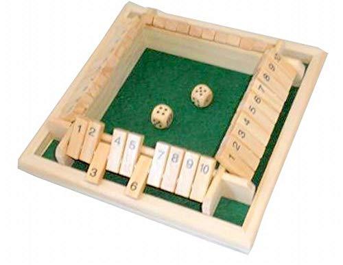 GOOD TOWN シャット ザ ボックス ダイスゲーム 数字ゲーム サイコロゲーム 算数 脳トレ パズル パーティーゲーム 和気あいあい