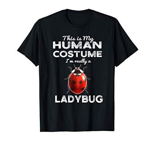 Este es mi disfraz humano Kawaii Ladybug Cosplay Camiseta