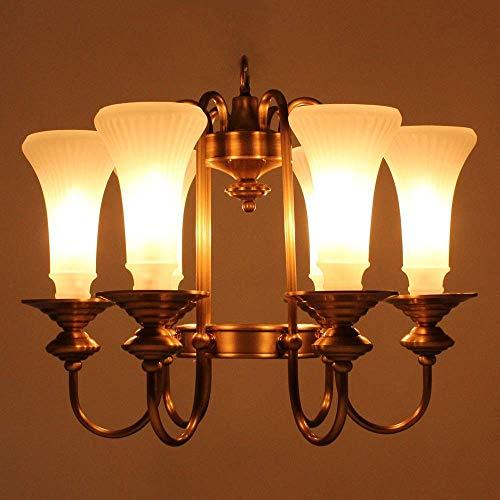 MAZ Soldador Lata Re Retro Lámpara de Techo Luz Lámpara de Vidrio Chandelier Porche Estudio Dormitorio Sala de Estar Sala de Estar Europa América