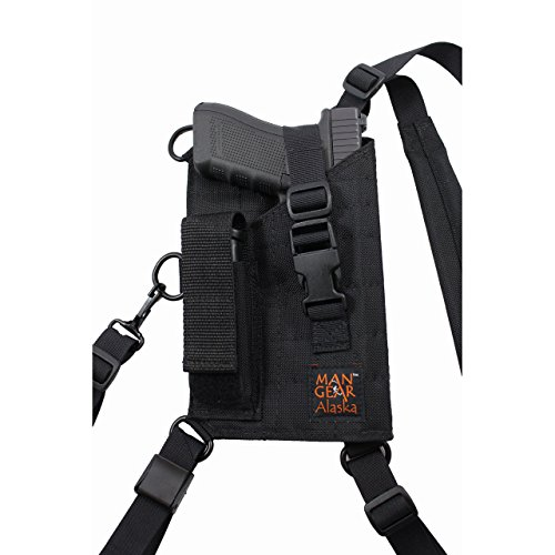 Man Gear Alaska Ultimate Chest Holster - MGP1 Large Auto with Mag Pouch