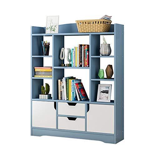 Huangjiahao Boekenkast, houten display, boekenkast, rek, opslagorganizer voor boeken, fotolijsten, potplanten, voor kantoor, woonkamer, slaapkamer