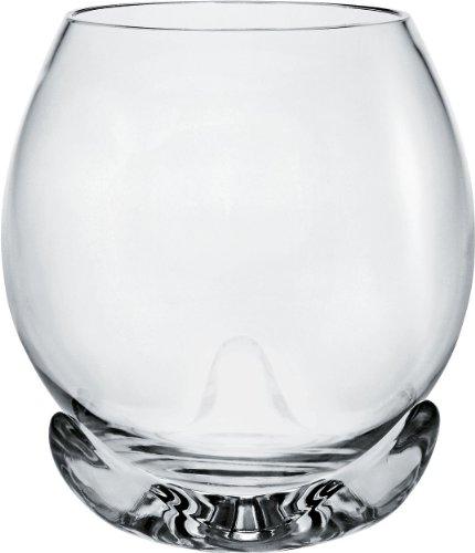 Alessi - FSY02/1 - Bettina Bicchiere per Vini Bianchi o Acqua in Vetro Cristallino con Base d'appoggio in Resina termoplastica - Set da 2
