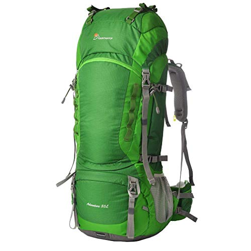 MOUNTAINTOP Hiking Backpack 80L Waterproof Mountaineering Backpack Large Camping Trekking...