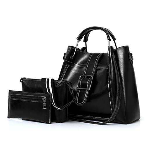 ZZALLL 3pcs Women Leather Handbag Ladies Shoulder Bags Tote Purse Messenger Satchel Crossbody Bag