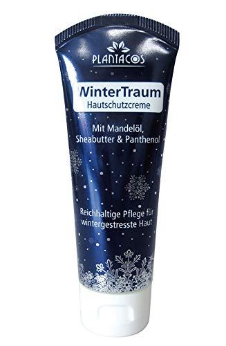 PLANTACOS Hautschutzcreme WinterTraum/Reichhaltige Hautcreme mit Kälteschutz/Gesichtscreme trockene Haut/Handcreme rissige Hände/Sheabutter + Mandelöl / 50 ml