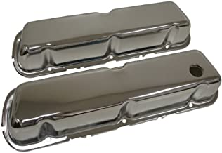 1986-95 Compatible with/Replacement for Ford 302 5.0L Fox-body Mustang Steel Valve Covers - Chrome