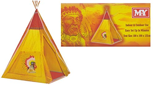 M.Y Childrens Indian Wigwam Tepee Play House Indoor & Outdoor Tent