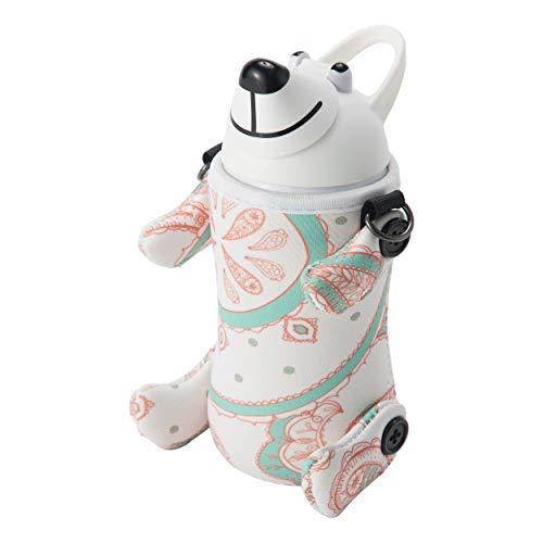 THERMO MUG クール・スポーツボトル ホワイト 380ml アニマルボトル・ペイズリー Animal Bottle AM18-PS1