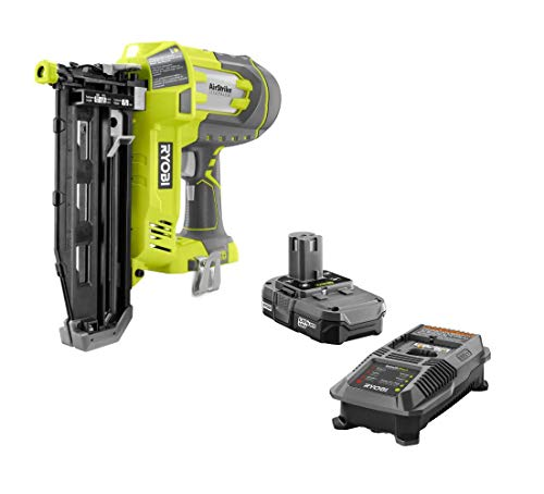 Ryobi 18V One+ Airstrike 16-Gauge 3/4'-2-1/2' Cordless Finish Nailer P325 - Battery & Charger Included