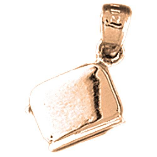Jewels Obsession - Collar para tostador en 3D de oro rosa de 14 quilates con collar de 45,7 cm