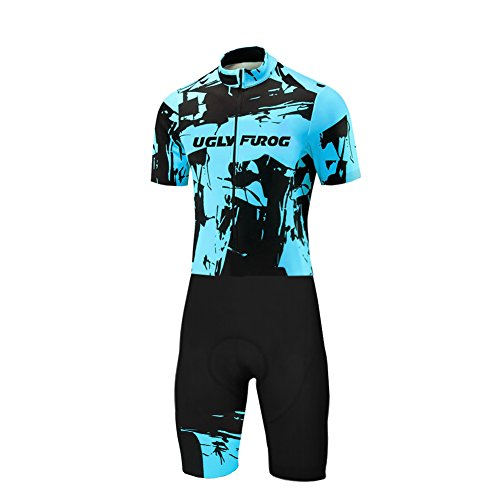 Uglyfrog Designs -Camo Bunt Sport Radsport Trikots & Shirts Kurzarm with Kurze Beine Skinsuit+Gel PAD Herren Sommer Stil Bekleidung Flexibel Atmungsaktiv Clothes