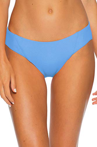 Becca by Rebecca Virtue Women's American Ribbed Tab Side Hipster Bikini Bottom Dawn M