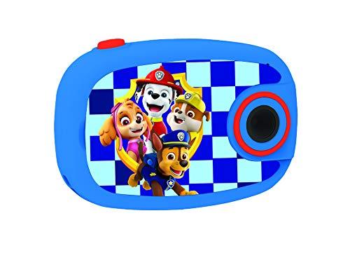 LEXIBOOK, D, Chase y Marchall, Patrulla Canina-Cámara de Fotos Digital 5MP, Pantalla LCD, con 10 Adhesivos, función vídeo, Color Azul, DJ070PA