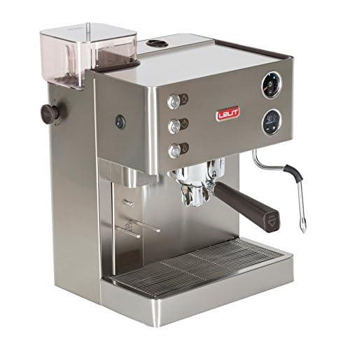 Lelit PL82T Macchina per Espresso con Macinacaffè, 1200 W, 0.35 kg, Acciaio Inossidabile, Argento