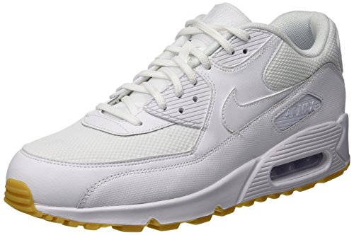 Nike Wmns Air MAX 90, Zapatillas para Mujer, Blanco (White/White-Gum Light Brown 135), 37.5 EU
