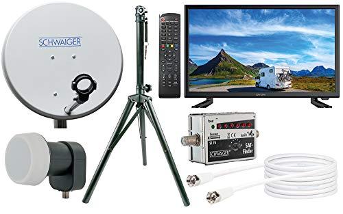 SCHWAIGER -TVSET1- Camping-Sat-Anlage digital komplett / Camping Satelitenschüssel / TV 22