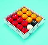Conjunto de bolas de billar de 2 pulgadas, acabado de Aramith, color rojo y amarillo (con...