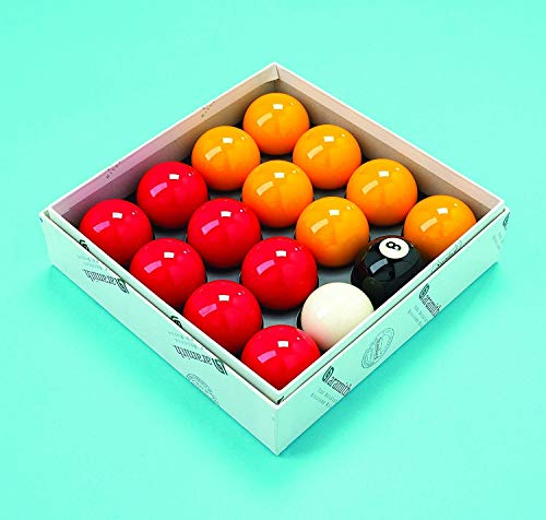 Aramith Billard-Kugeln, Rote und Gelbe Kugeln 50,8mm, Spielball 47,6mm