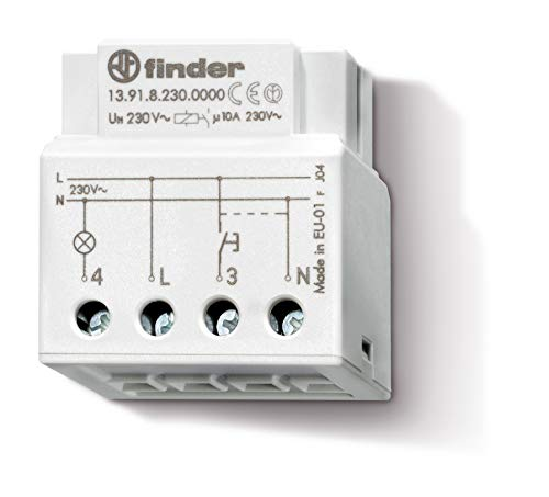 Finder 139182300000PAS - Interruptor crepuscular/telerruptor temporizado para montaje en caja de mecanismos 1 contacto 10 A - AC (50/60Hz) - 230 V37 x 22 x 39 cm color gris
