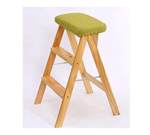 YZQ Creatief Hout Vouwkruk Eenvoudige Vouwkruk Hout Keuken Kruk Draagbare Huishoudelijke Moet Bench Hoge Kruk Makkelijk schoon te maken As Shown Groen