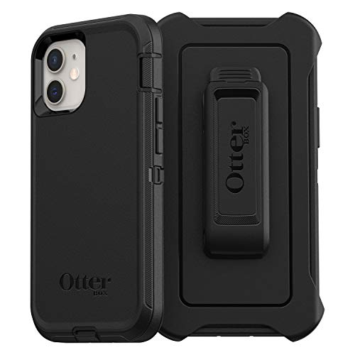 OtterBox Defender - robuste, sturzsichere & 3-lagige Schutzhülle für Apple iPhone 12 mini, schwarz - 5.4 Zoll
