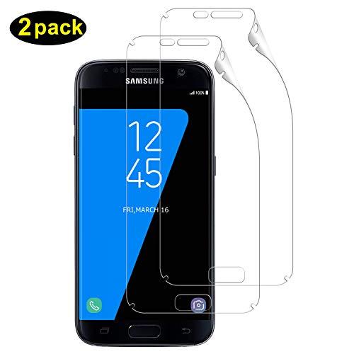 DOSMUNG Schutzfolie für Galaxy S7 Edge, (2 Pack) [Blasenfreie] [Anti-Kratzer] [volle Abdeckung] [Ultra-Klar] Klar HD Displayschutzfolie Weich TPU Folie für Samsung Galaxy S7 Edge (Nicht Panzerglas)