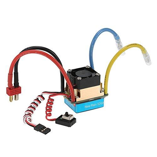 GoolRC Wasserdicht 320A Brushed ESC Elektronische Drehzahl Regler mit 5V / 3A BEC T-Stecker für 1 10 RC Auto
