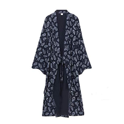 Pijamas de túnica de Yukata para Hombres Pijamas [Patrón Abstracto, Talla L]