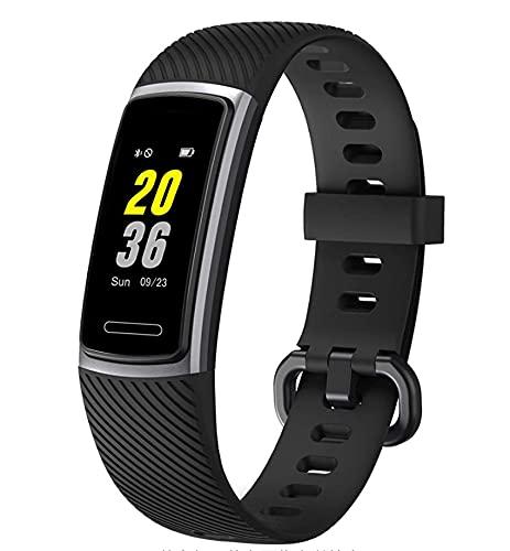 Rastreador de Actividad física con Reloj Inteligente IP68 a Prueba de Agua con Monitor de frecuencia cardíaca, podómetro y Reloj de sueño para Hombres y Mujeres