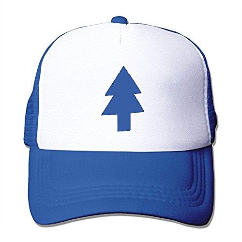 DIYoDGG Dipper Flat Hat Blue Pine Tree Printed Cute Baseball Cap Trucker Mesh Hat
