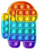 Fidget Toy Juguete Antiestres - Pop It Sensorial Among us para Niños y Adultos - Push Pop it Bubble Among Us - Juguetes Antiestrés de Explotar Burbujas para Aliviar estrés y Ansiedad.