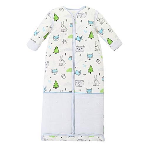 NXYJD Bebé Saco de Dormir Unisex Manta Resistente al Desgaste Saco de Dormir de algodón Jersey de Manga Larga Pijamas edredón Anti-Retroceso de Invierno Engrosado (Color : A, Size : Medium)