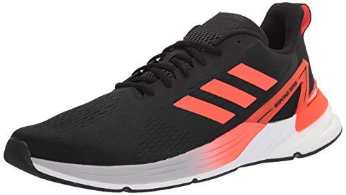 adidas mens Response Super Running Shoe, Black/Solar Red/Halo Silver, 9 US