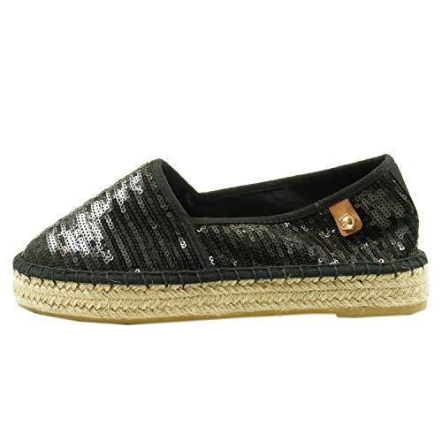 Tamaris Tamaris Schuhe 1-1-24602-28 Bequeme Damen Slipper, Halbschuhe, Sommerschuhe für modebewusste Frau, Trend schwarz (Black Sequins), EU 39