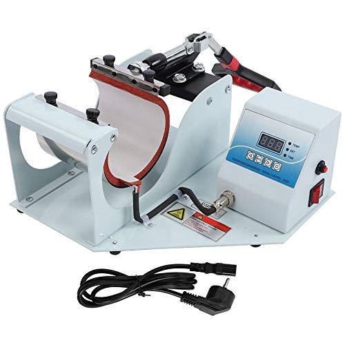 【𝐒𝐞𝐦𝐚𝐧𝐚 𝐒𝐚𝐧𝐭𝐚】 Impresión de Tazas multifunción, Prensa de Calor de Taza de sublimación 350W 0-220 ° Máquina de impresión,(European Standard 220V)