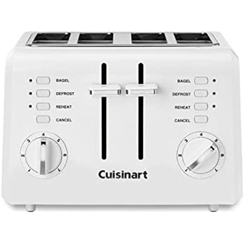 Cuisinart CPT-142P1 2-Slice Compact Plastic Toaster, 4, White