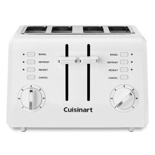 Cuisinart CPT-142P1 2-Slice Compact Plastic Toaster, 4, White