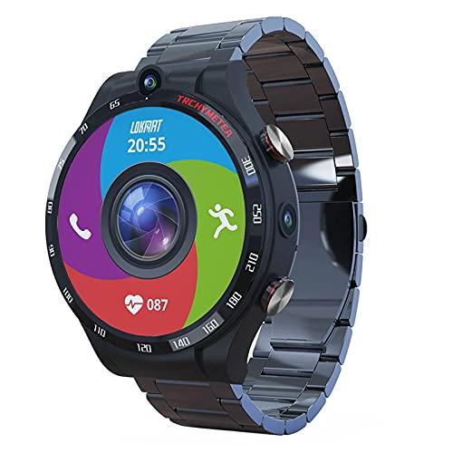 zyz El Nuevo Teléfono Inteligente Teléfono 900Mah 1.6 Pulgadas, Cámaras Duales, Tacto De Círculo Completo, Reloj Inteligente 4G 128G GPS Reloj De Hombre,A