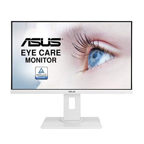 ASUS VA24DQLB-W 60,5 cm (23,8 Zoll) EyeCare Monitor (Full HD, Blaulichtfilter, 5ms Reaktionszeit, HDMI, DisplayPort), weiß
