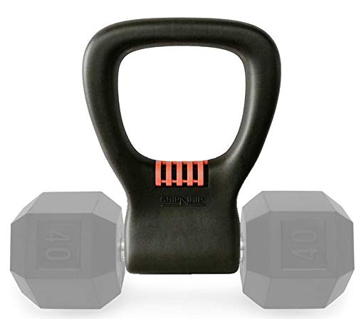 GRIP N RIP FITNESS Adjustable Dumbbell Grip - Convert Dumbbells into Kettlebells - Exercise Equipment for Home Workouts, The Gym, or Traveling - Ergonomic Handle for Weights Up to 75 lbs