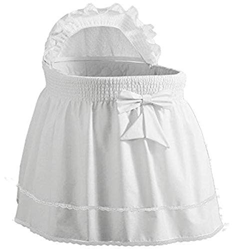Precious Bassinet Liner/Skirt & Hood color: White - Size: 17inch x 31inch by Ababy