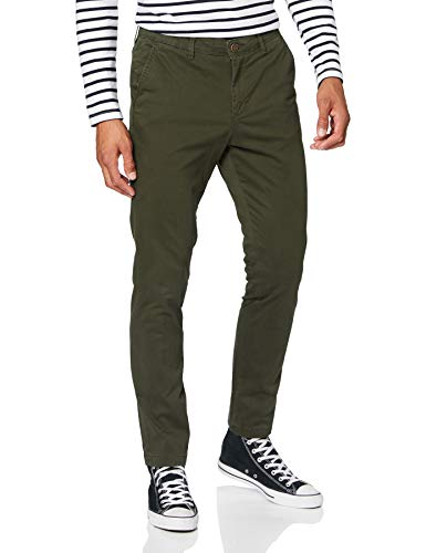 JACK & JONES Jjimarco Jjbowie Sa Forest Night Noos Pantalon Homme, Vert, 34W x 36L
