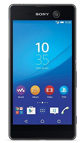 """Sony Xperia M5 - Smartphone Android (Pantalla de 5"""" Full HD, Procesador de 64 bits y ocho núcleos de 2,0 GHz, 3 GB de RAM, 16 GB, Cámaras de 21,5 MP trasera y 13 MP frontal, resistente al agua IP65/68, Android 5.0 Lollipop, 4G/LTE) color negro"""