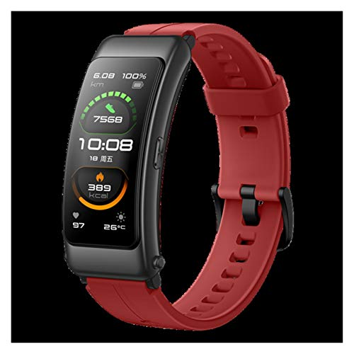 XXY Original Huawei Talkband Smart Band Smart Bluetooth Auricular Huawei B6 Sport Band Fitness Monitoring Pulsera (Color : Coral Red)