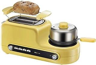 3-in-1 petit déjeuner station machine Retro Center famille électrique 2 tranches Grille-pain en acier inoxydable Maker Fou...